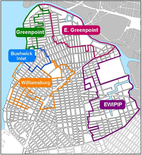 Map from the NYC Department of Urban Planning