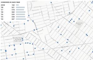 NYC murder map